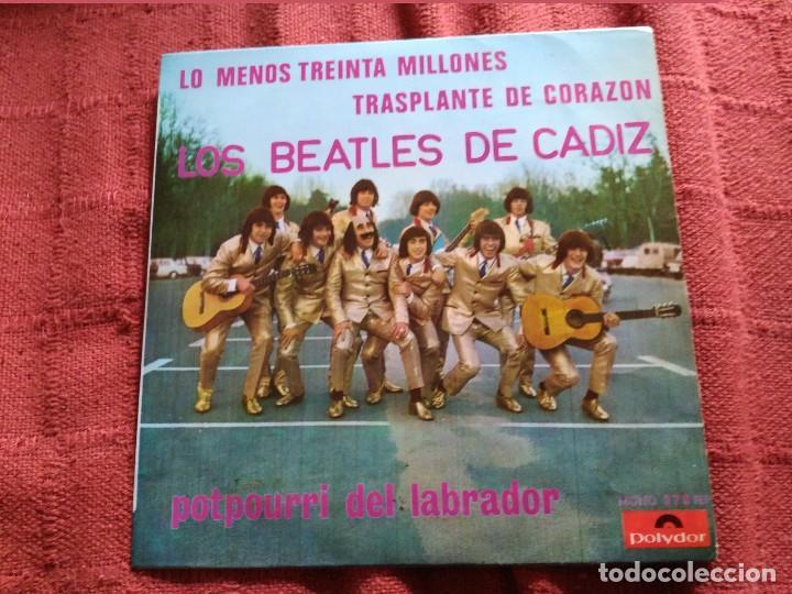 CARNAVAL DE CADIZ SINGLE LOS BEATLES DE CADIZ LO MENOS TREINTA MILLONES (Música - Discos - Singles Vinilo - Clásica, Ópera, Zarzuela y Marchas)