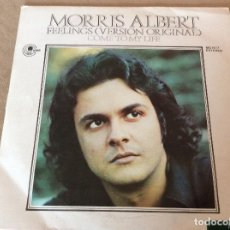 Discos de vinilo: MORRIS ALBERT. FEELINGS / COME TO MY LIFE - CARNABY 1975.. Lote 116595767
