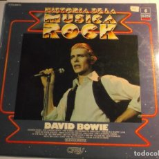 Disques de vinyle: HISTORIA DE LA MUSICA ROCK-DAVID BOWIE-NUMERO 4-ORIGINAL ESPAÑOL 1982. Lote 116610239