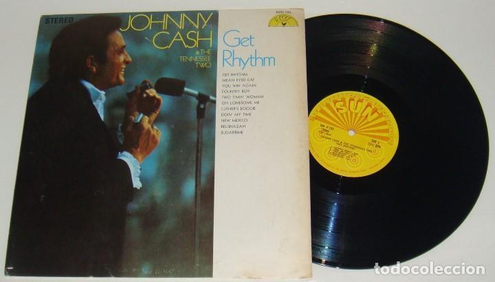 LP - JOHNNY CASH - GET RHYTHM - MADE IN USA - JOHNNY CASH & THE TENNESSEE TWO (Música - Discos - LP Vinilo - Country y Folk)