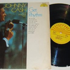 Discos de vinilo: LP - JOHNNY CASH - GET RHYTHM - MADE IN USA - JOHNNY CASH & THE TENNESSEE TWO. Lote 116620711