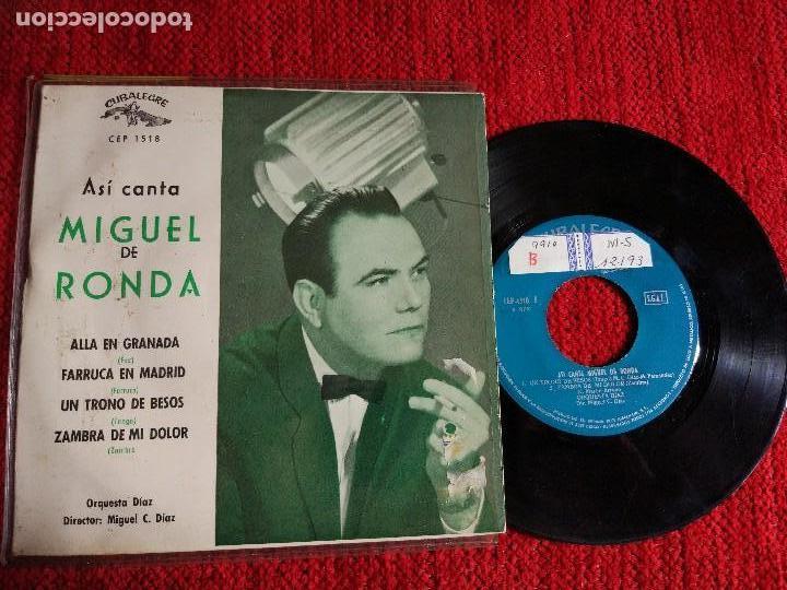 MIGUEL DE RONDA EP ALLÁ EN GRANADA+ 3 TEMAS (Música - Discos de Vinilo - EPs - Clásica, Ópera, Zarzuela y Marchas)