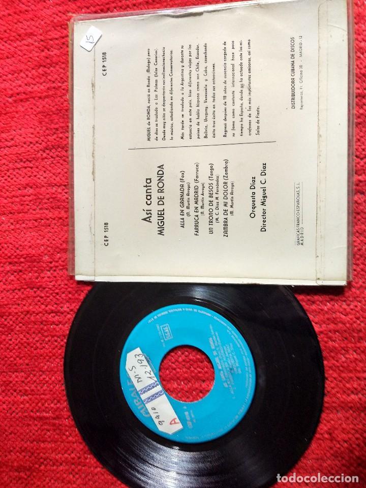 Discos de vinilo: MIGUEL DE RONDA EP ALLÁ EN GRANADA+ 3 temas - Foto 2 - 116627739