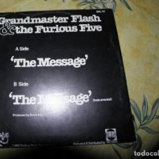 Dischi in vinile: GRANDMASTER FLASH & THE FURIOUS FIVE ‎– THE MESSAGE,1982,12RPM. Lote 116627755