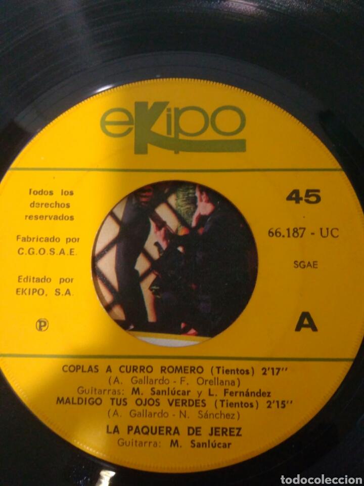 Discos de vinilo: La paquera de jerez años 70 tres flamencos rondadores de las minas - Foto 2 - 116638291