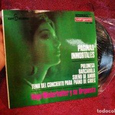 Discos de vinilo: HUGO WINTERHALTER Y SU ORQUESTA / PAGINAS INMORTALES/ POLONESA+3 EP VERGARA. Lote 116638763