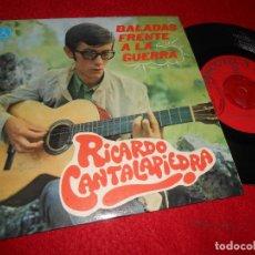 Discos de vinilo: RICARDO CANTALAPIEDRA BALADAS FRENTE A LA GUERRA. MADRE/GRITARE 7 SINGLE 1968 PAX XIAN. Lote 116643579