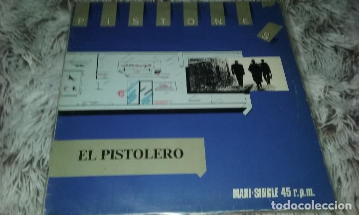 MAXI LOS PISTONES - EL PISTOLERO. ARIOLA 1983 (Música - Discos de Vinilo - Maxi Singles - Grupos Españoles de los 70 y 80)