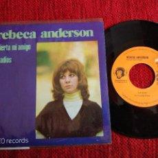 Discos de vinilo: REBECCA ANDERSON SINGLE PROMO DESPIERTA MI AMIGO. Lote 116644251