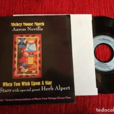 Discos de vinilo: RINGO STARR + AARON NEVILLE VINTAGE DISNEY PROMO USA. Lote 116647991