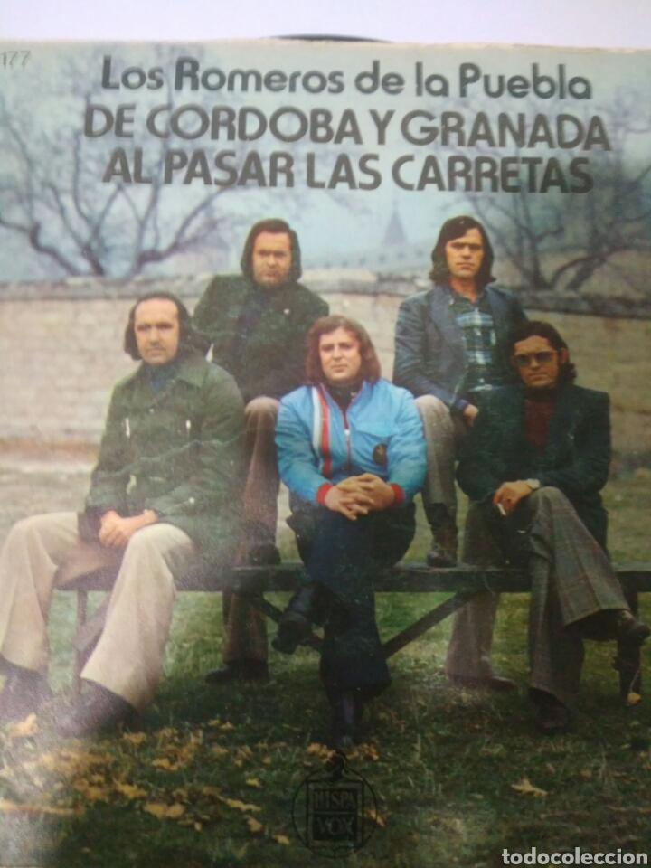LOS ROMEROS DE PUEBLA DE CORDOBA Y GRANADA AL PASAR LAS CARRETAS AÑOS 70 (Música - Discos - Singles Vinilo - Flamenco, Canción española y Cuplé)