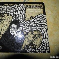 Discos de vinilo: BRAHMS SYMPHONY NO 4 TRAGIC OVERTURE 1963. Lote 116659035