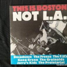 Discos de vinilo: THIS IS BOSTON NOT L.A.-RECOPILACIÓN. Lote 116666931