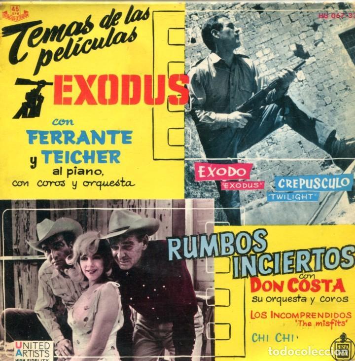 FERRANTE & TEICHER (TEMAS DE PELICULAS) EXODUS - RUMBOS INCIERTOS (EP 1961) (Música - Discos de Vinilo - EPs - Bandas Sonoras y Actores)