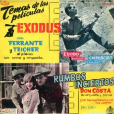Discos de vinilo: FERRANTE & TEICHER (TEMAS DE PELICULAS) EXODUS - RUMBOS INCIERTOS (EP 1961). Lote 116672083