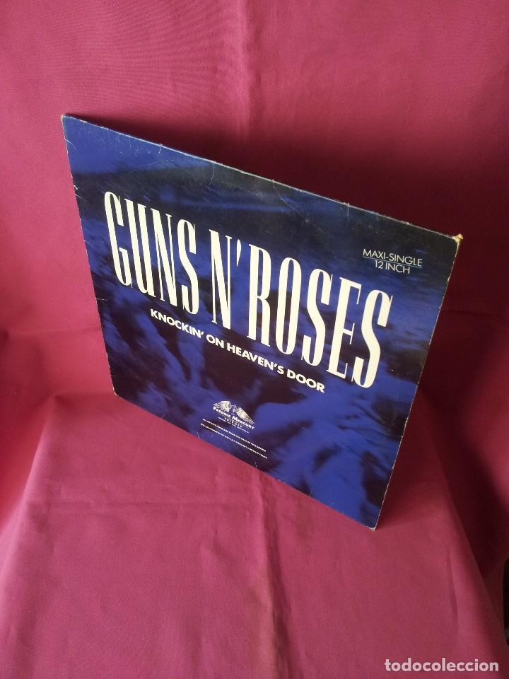 GUNS N' ROSES - KNOCKIN' ON HEAVEN'S DOOR - GEFFEN 1992 - MAXI (Música - Discos de Vinilo - Maxi Singles - Heavy - Metal)