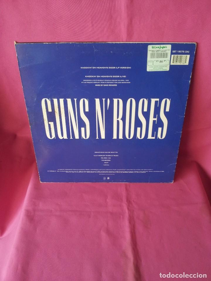 Discos de vinilo: GUNS N ROSES - KNOCKIN ON HEAVENS DOOR - GEFFEN 1992 - MAXI - Foto 2 - 155366718
