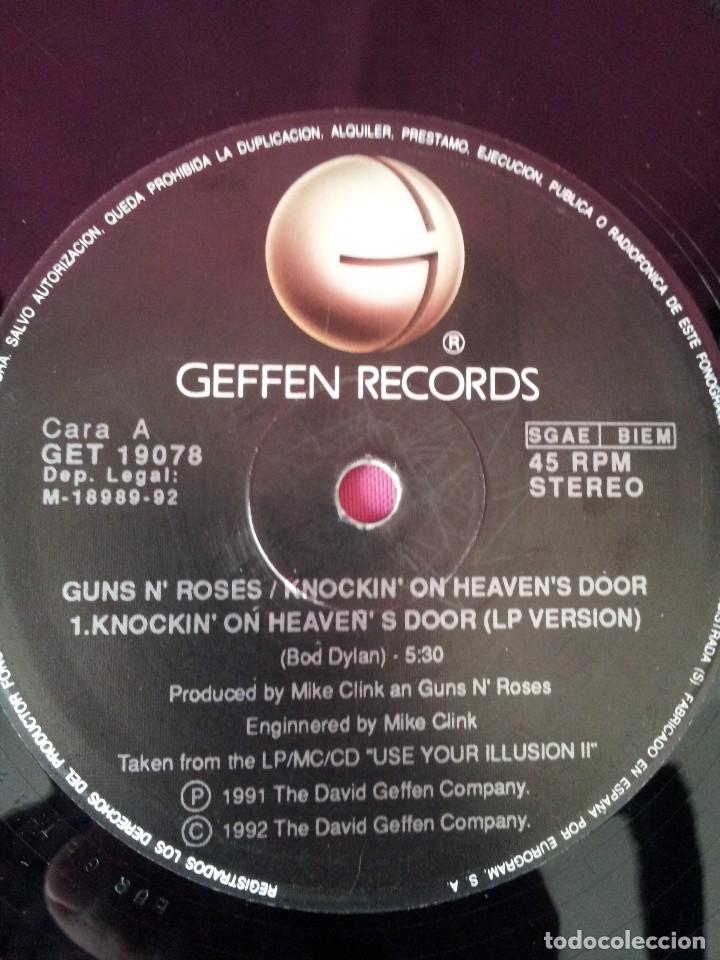 Discos de vinilo: GUNS N ROSES - KNOCKIN ON HEAVENS DOOR - GEFFEN 1992 - MAXI - Foto 4 - 155366718