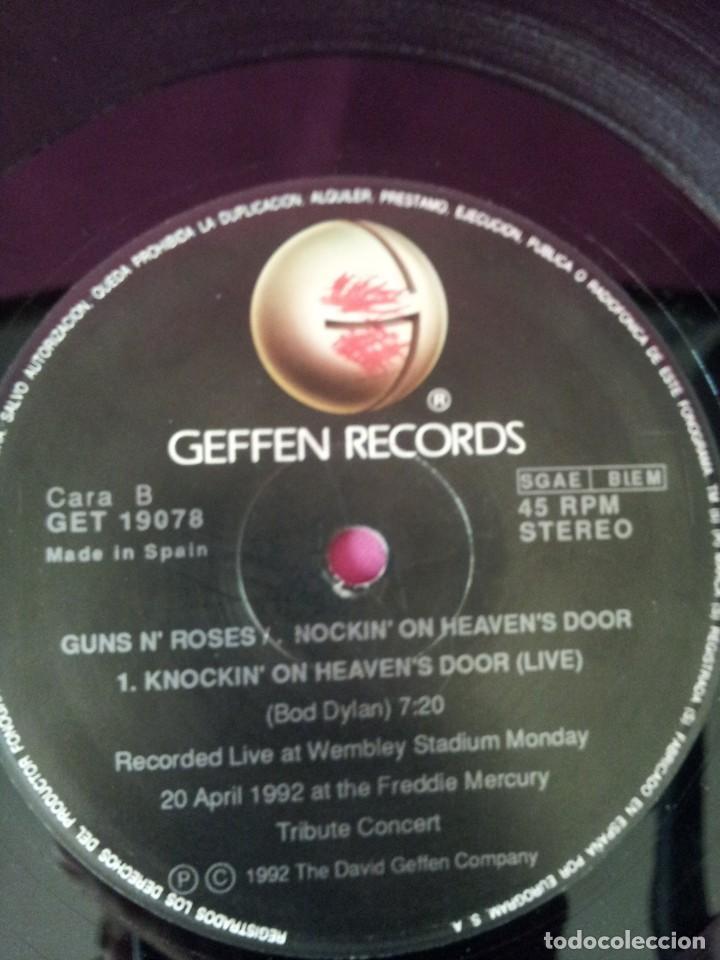 Discos de vinilo: GUNS N ROSES - KNOCKIN ON HEAVENS DOOR - GEFFEN 1992 - MAXI - Foto 6 - 155366718