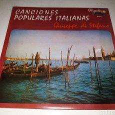 Discos de vinilo: GIUSEPPE DI STEFANO- CANCIONES POPULARES ITALIANAS- 10 PULGADAS- PERGOLA 1968 ESPAÑA 7. Lote 116674591