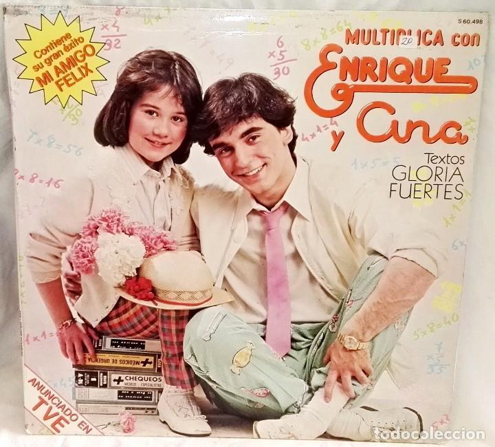 MULTIPLICA CON ENRIQUE Y ANA, TEXTOS GLORIA FUERTES - HISPAVOX 1980 (Música - Discos - LPs Vinilo - Música Infantil)