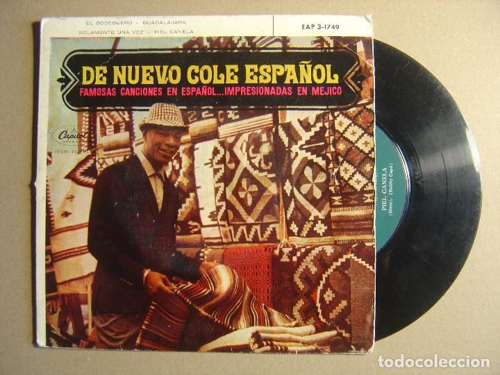 NAT KING COLE - SOLAMENTE UNA VEZ + PIEL CANELA...- EP ESPAÑOL 1962 - CAPITOL (Música - Discos - Singles Vinilo - Jazz, Jazz-Rock, Blues y R&B)