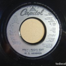 Discos de vinilo: M.C. HAMMER - PRAY - SINGLE USA 1990 - CAPITOL. Lote 116693951
