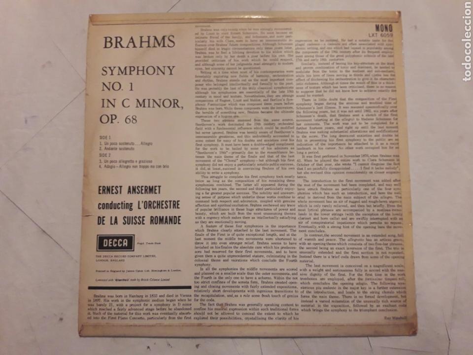 Discos de vinilo: Brahms. Symphony N°1 in C Minor. Op. 68. Vinilo. - Foto 2 - 116696471