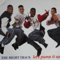 Discos de vinilo: THE RIGHT TRACK LET'S PUMP IT UP. Lote 116704331
