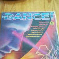 Discos de vinilo: VINILO LET'S DANCE. WHITNEY HOUSTON, KYLIE MINOGUE, SAMANTHA FOX, ETC.. 2 LPS. . Lote 116709507