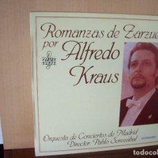 Discos de vinilo: ALFREDO KRAUS - ROMANZAS DE ZARZUELAS - LP 1986. Lote 116710131