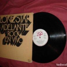 Discos de vinilo: LONE STAR - ADELANTE ROCK EN VIVO - LP CARPETA DOBLE ORIGINAL UNIC ESP 1973 PRO. Lote 116713063