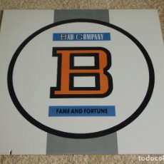 Discos de vinilo: BAD COMPANY ( FAME AND FORTUNE ) USA-1986 LP33 ATLANTIC. Lote 116734767