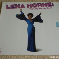 Discos de vinilo: LENA HORNE ''LIVE ON BROADWAY'' ( THE LADY AND HER MUSIC ) DOBLE LP33 1981-GERMANY QWEST. Lote 116735495