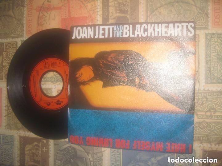 JOAN JETT & THE BLACKHEARTS / I HATE MYSELF FOR LOVING YOU (POLYDOR-1988) OG ALEMAN (Música - Discos - Singles Vinilo - Heavy - Metal)