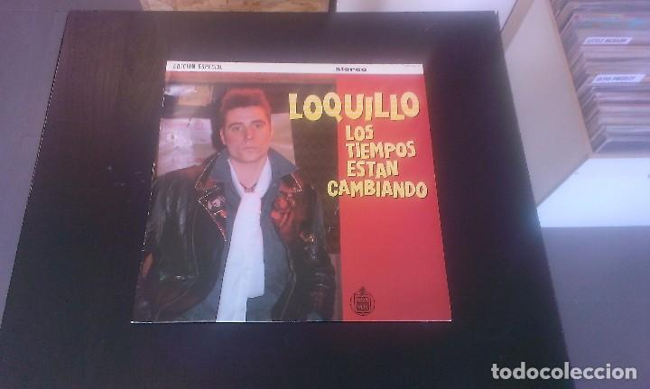 LP LOQUILLO LOS TIEMPOS ESTÁN CAMBIANDO ROCKABILLY ESPAÑA 80'S (Música - Discos - LP Vinilo - Grupos Españoles de los 70 y 80)