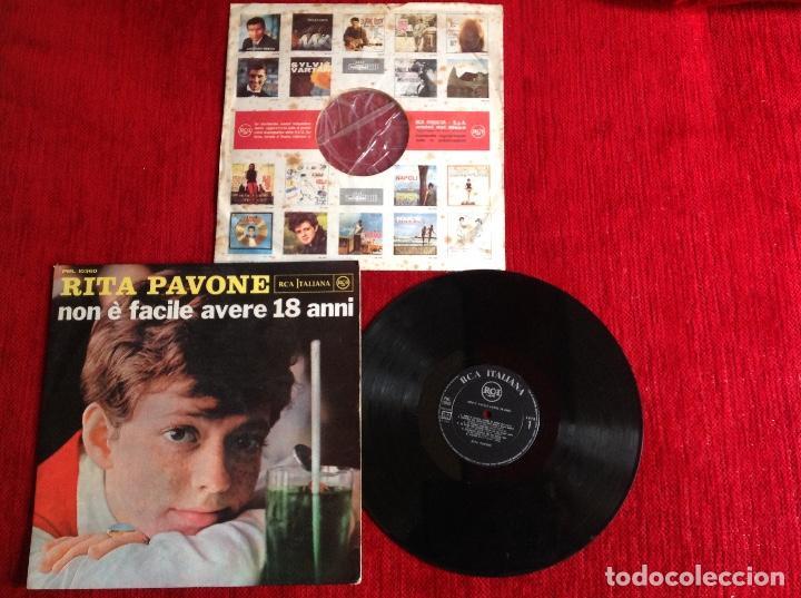 RITA PAVONE LP NON E FACILE AVERE 18 ANNI . CARPETA DURA + ENCARTE ORIGINAL (Música - Discos - LP Vinilo - Canción Francesa e Italiana)