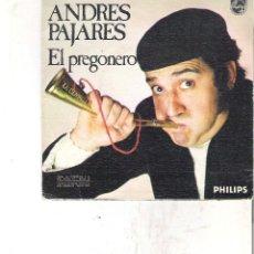 Discos de vinilo: 1 DISCO VINILO - ANDRES PAJARES ( GIGI EL AMOROSO PARODIA COMICA - EL PREGONERO. Lote 116759807