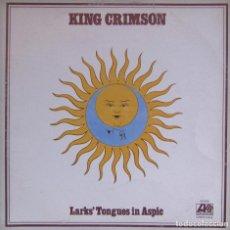 Discos de vinilo: KING CRIMSON. LARKS' TONGUES IN ASPIC. ATLANTIC 50.026. VENEZUELA 1973. FUNDA VG++. DISCO EX. ¡RARO!. Lote 116766003