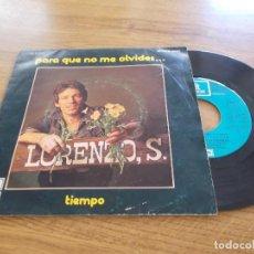 Disques de vinyle: LORENZO SANTAMARIA. PARA QUE NO ME OLVIDES. TIEMPO.. Lote 116774239