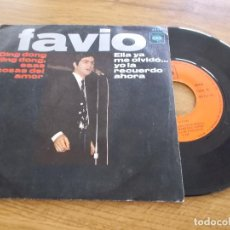 Discos de vinilo: LEONARDO FAVIO, DING DONG DING DONG, ESTAS COSAS DEL AMOR. ELLA YA ME OLVIDÓ YO LA RECUERDO AHORA.. Lote 116775559