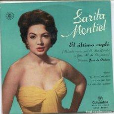 Discos de vinilo: EL ULTIMO CUPLE (SARITA MONTIEL) / NENA + 3 (EP 1958). Lote 116782427
