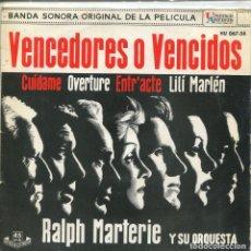 Discos de vinilo: VENCEDORES O VENCIDOS (BANDA SONORA) / CUIDAME / ENTRE'ACTE / LILI MARLE (EP 1962). Lote 116783619
