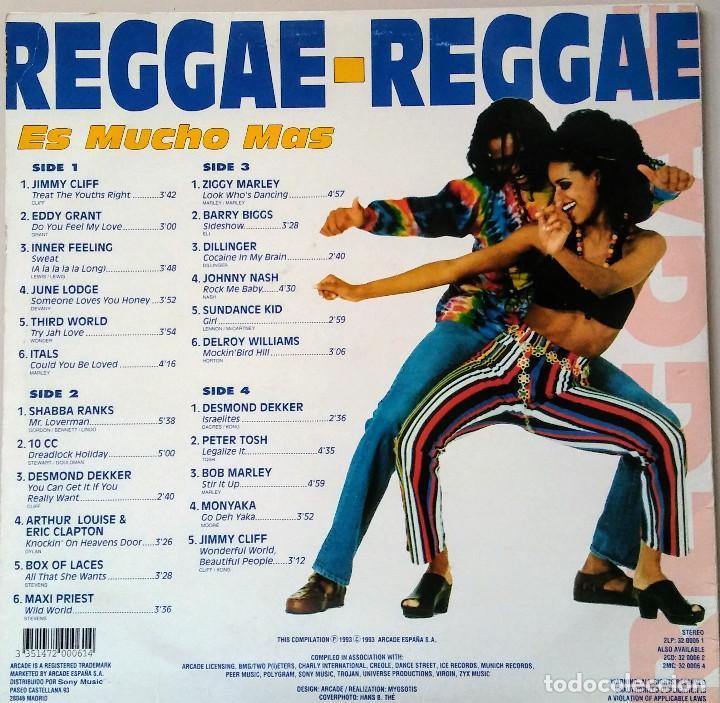 Discos de vinilo: REGGAE REGGAE ES MUCHO MAS DOBLE LP - Foto 3 - 116792319