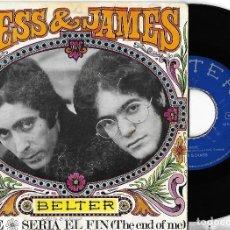 Discos de vinilo: JESS & JAMES: MOVE / SERÍA EL FIN (THE END OF ME). Lote 116816163