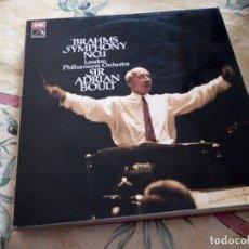 Discos de vinilo: SIR ADRIAN BOULT - LONDON PHILHARMONIC ORCHESTRA,BRAHMS : SYMPHONY N° 1 IN C MINOR OP. 68. Lote 116817903