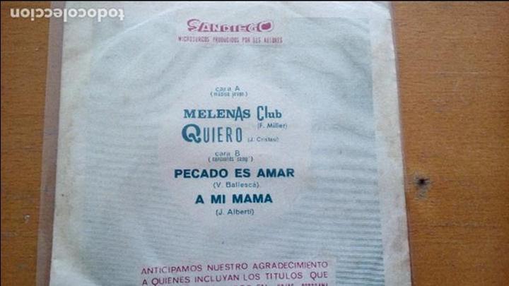 ORQUESTA DOBLE CERO-MELENAS CLUB/QUIERO - ORQUESTA SELVATANA-A MI MAMA/PECADO ES AMAR (Música - Discos de Vinilo - EPs - Grupos Españoles de los 70 y 80)