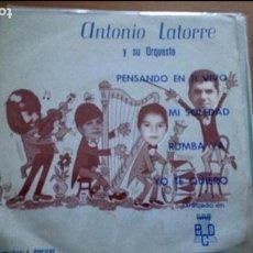 Discos de vinilo: ANTONIO LATORRE Y SU ORQUESTA - PENSANDO EN TI VIVO + 3 (EP DE 4 CANCIONES) BCD PROMO. Lote 116844251