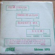 Discos de vinilo: JAVIER Y THE REGIDOR´S ZUARTET : FELIZ CORAZON + 3. Lote 116844427