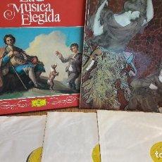 Discos de vinilo: LA MÚSICA ELEGIDA / LA MÚSICA DE ESPAÑA / 4 LPS - CON LIBRETO / DISCOS DE LUJO. ****. Lote 116846959
